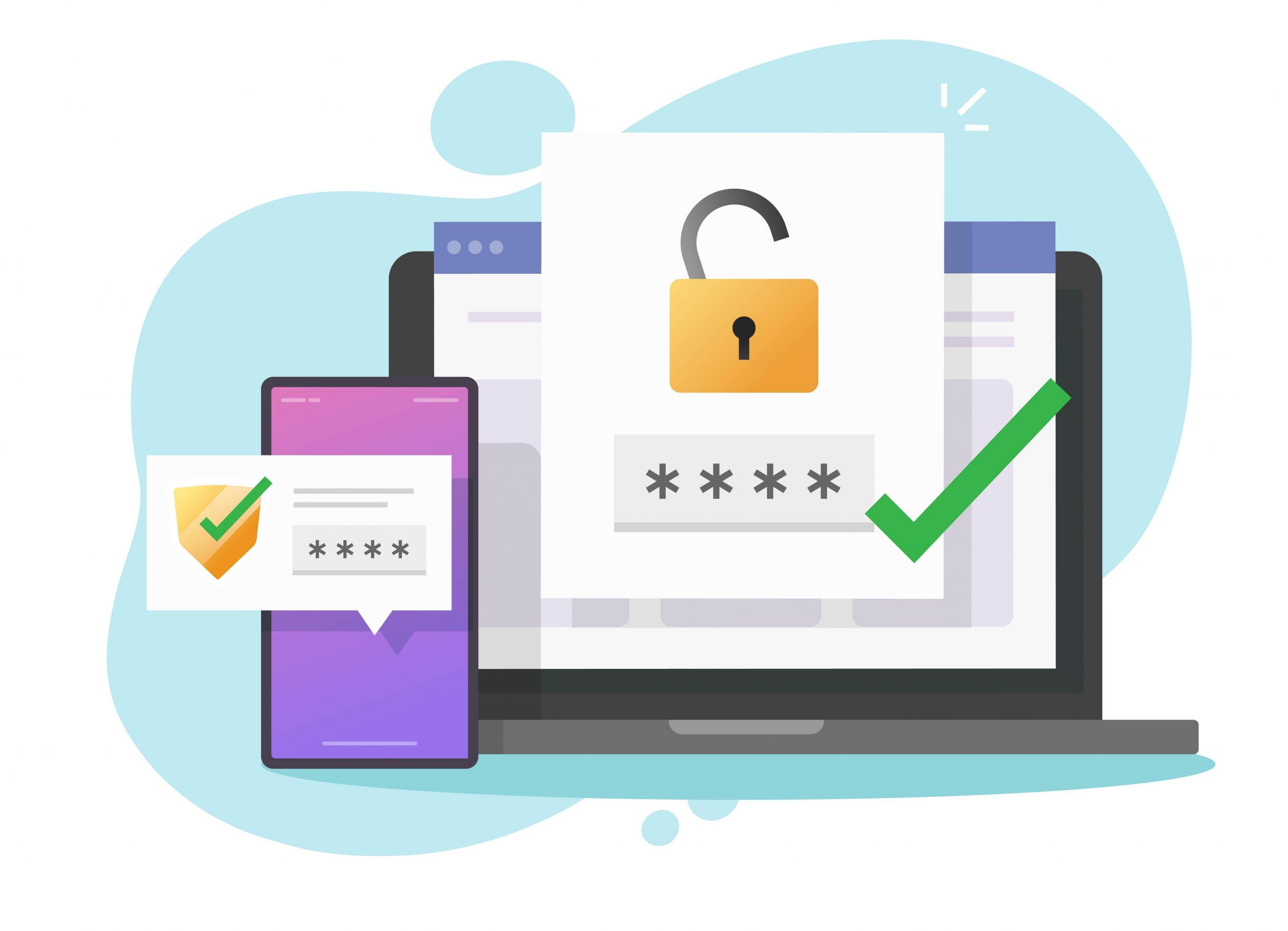 2fa MFA multi factor authentication password secure login verification or sms