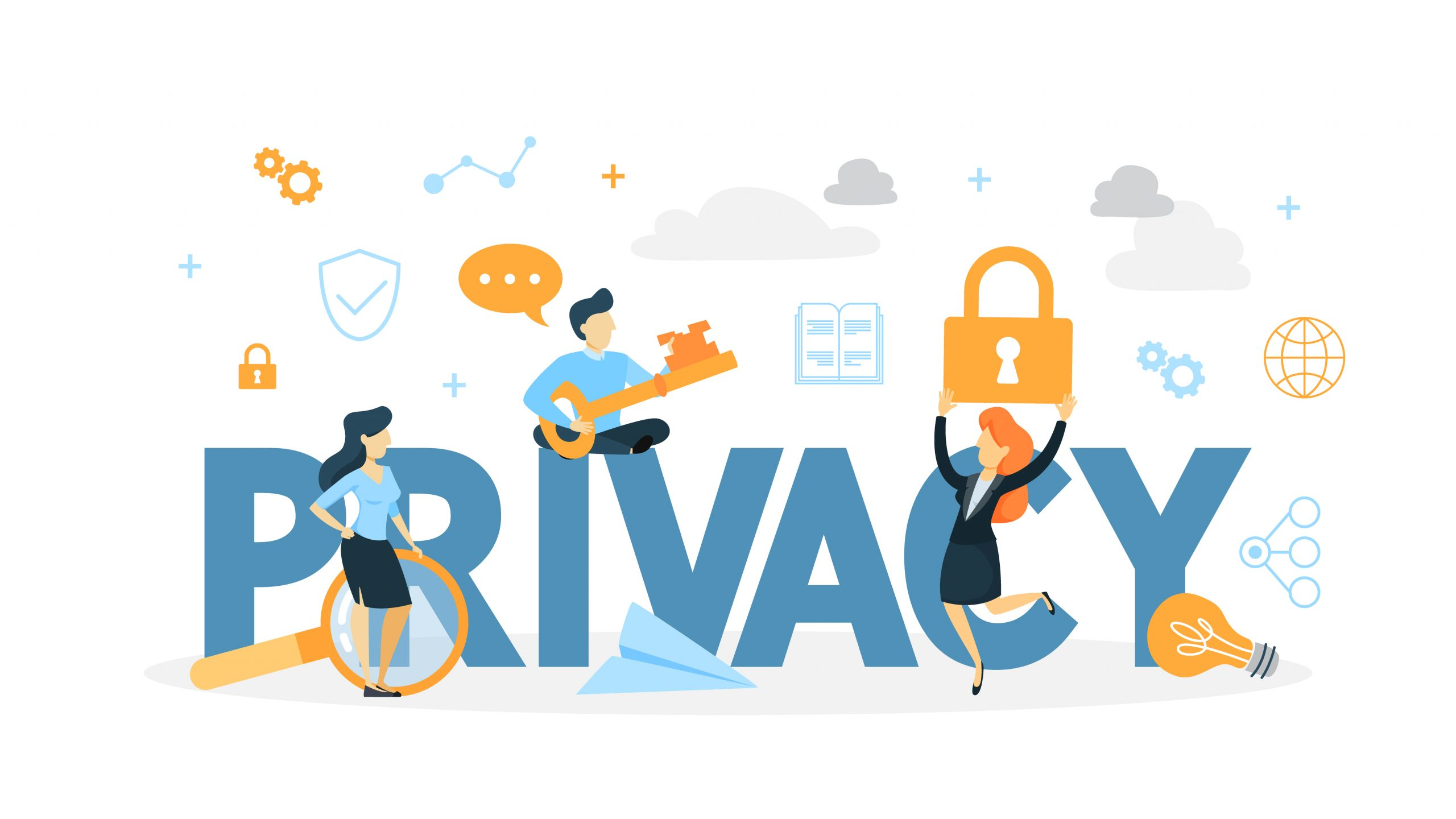 Data and user privacy concept illustration