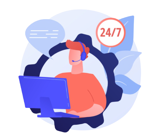 24/7 support person