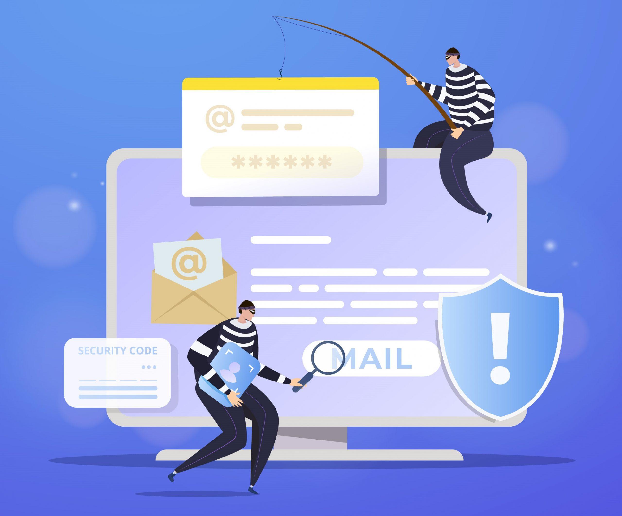 Cyber criminal phishing via email