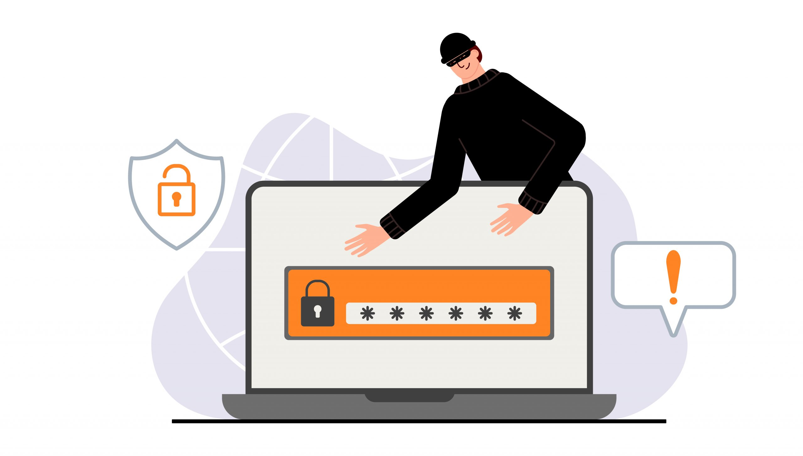 Hacker Phishing attack. Fraud with user data on social networks. Credit or debit card theft. Internet phishing, hacked username and password. Cybercrime and crime. A thief on a website online on the internet